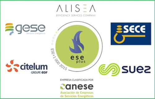 Anese concede el Sello ESE plus a cinco empresas de servicios energéticos: Alisea Esco, Citelum, Gese, Sece y Aquatec (Suez Advanced Soltuions).