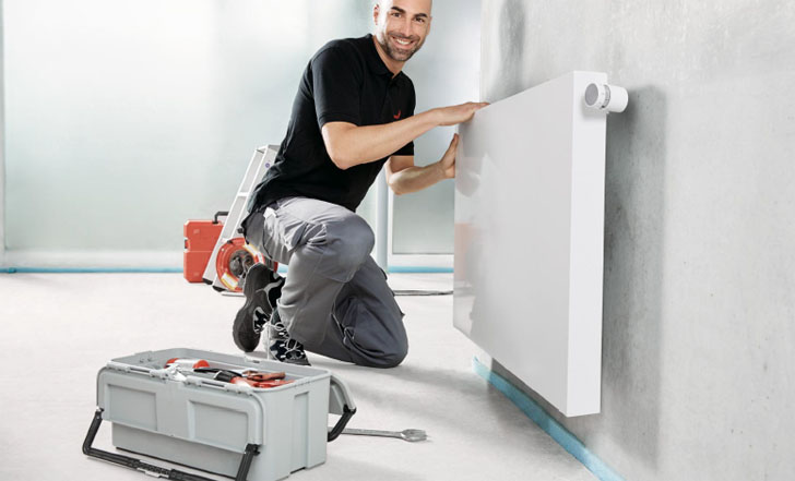 Radiador Zehnder Zmart en viviendas que apuestan por la eficiencia energética.