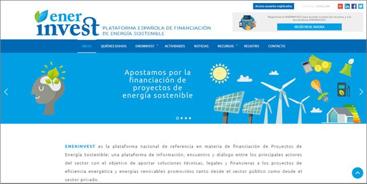 Proyecto ENERINVEST estrena página web.