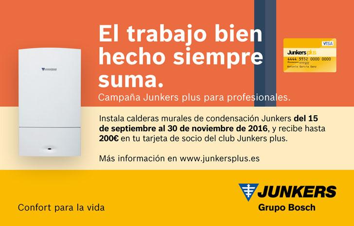Junkers pone en marcha una campaña de fidelización para los instaladores que instalen calderas murales de condensación de clasificación energética A.