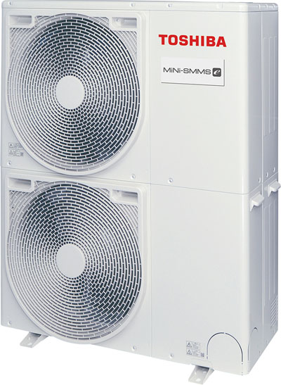 Toshiba lanza en España la gama Mini SMMS para climatización por aerotermia.