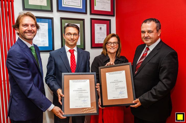 Aenor entrega a la empresa Uría Ingeniería de Instalaciones el certificado de Proveedor de Servicios Energéticos.