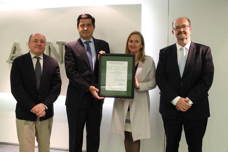 SinCeO2 obtiene la certificación AENOR como Proveedor de Servicios Energéticos. RD 56/2016.
