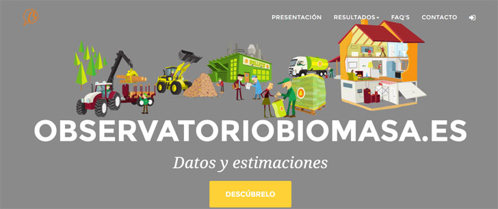 Avebiom presenta la página web Observatoriobiomasa.com.