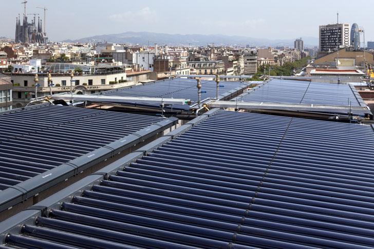 Buderus suministra energía para calefacción y acs en el Palace Hotel Barcelona. Instalación solar térmica.