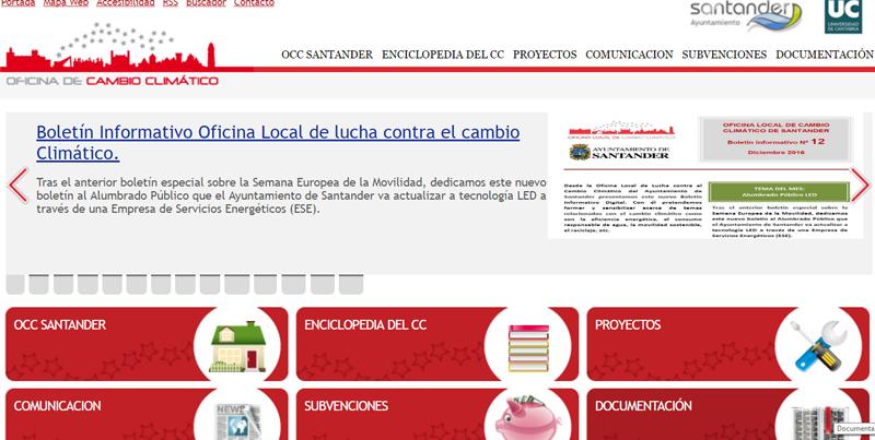 Boletín de la Oficina Local de Cambio Climático de Santander.