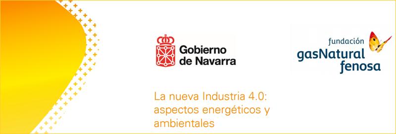 """Pantallazo tríptico seminario """"La nueva industria 4.0"""", de Fundación Gas Natural Fenosa."""