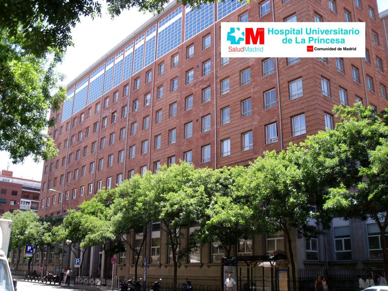 Fachada Hospital Universitario La Princesa de Madrid.