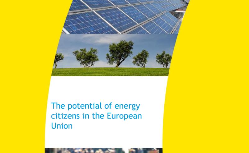 """Portada del informe """"El potencial de los ciudadanos energéticos en Europa""""."""