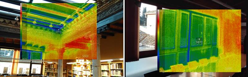 Termografía de un edificio público. Auditoría energética. Tierra Estella.