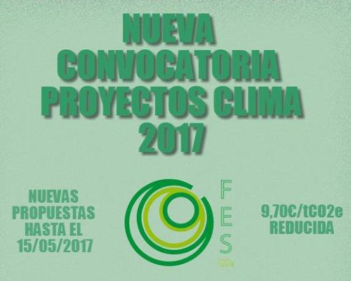 Anuncio de la nueva convocatoria de Proyectos Clima 2017.
