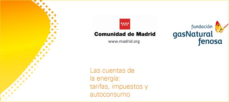 """Fragmento del tríptico informativo sobre el seminario """"Las Cuentas de la Energía"""", organizado por la comunidad de Madrid y Fundación Gas Natural Fenosa."""
