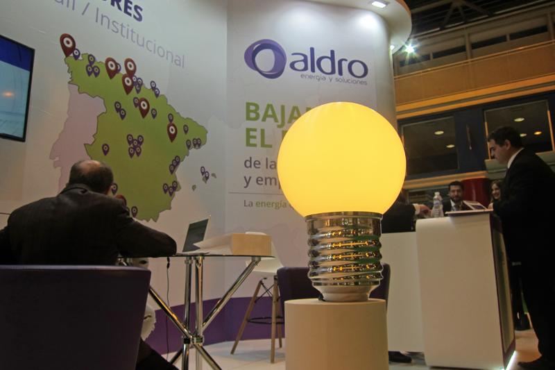 Stand de Aldro Energía en Genera 2017, donde fueron presentados sus nuevos planes de eficiencia energética.