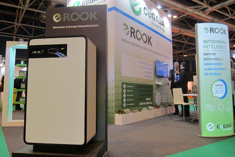 Stand de Cegasa en Genera 2017, donde presentó el sistema de almacenamiento energético eROOK.