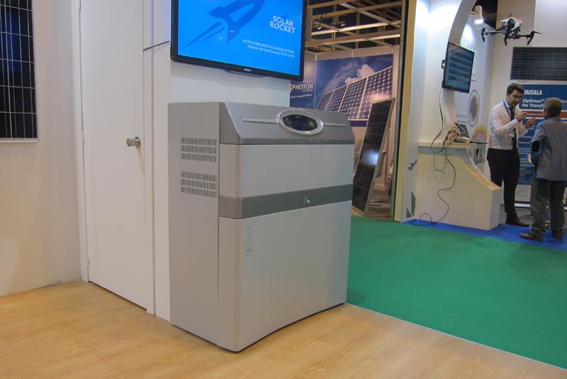 Stand de Solar Rocket en Genera 2017, donde se presentó el sistema de almacenamiento para instalaciones de autoconsumo fotovoltaico.