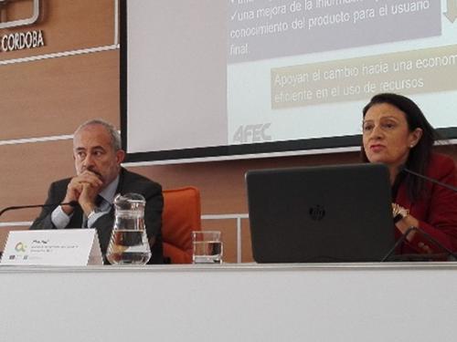 """Jornada """"Climatización y Refrigeración Eficientes"""" celebrada en la Confederación de Empresas de Córdoba."""