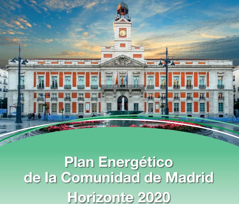 Portada del Plan Energético de la Comunidad de Madrid.