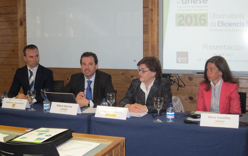 Participantes en la presentación del Observatorio de Eficiencia Energética de Anese.