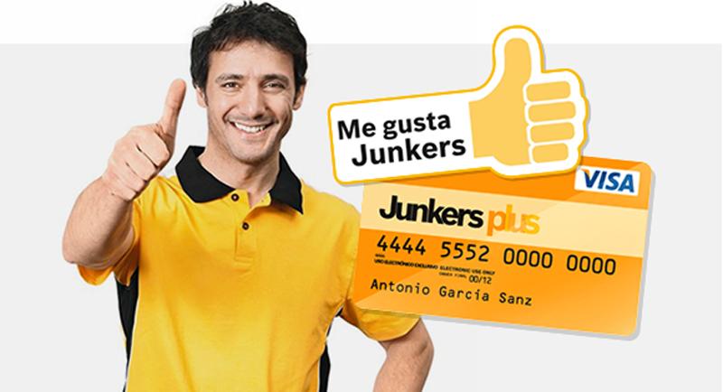 Junkers Plus. Instalador. Tarjeta de fidelización.