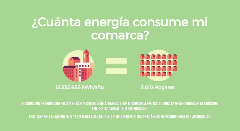 Pantallazo del Portal Energético de la página web de la comarca Nerbioi-Ibaizabal, Vizcaya., donde siete municipios han puesto en marcha una plataforma de gestión energética.
