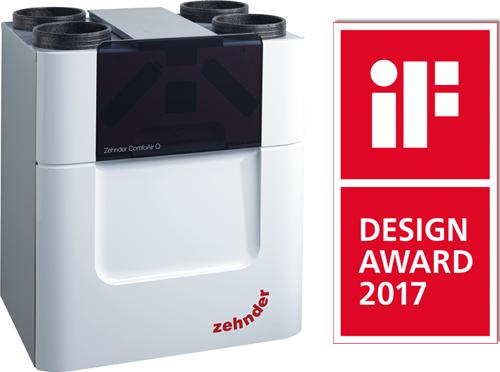 Zehnder ComfoAir Q. Premio iF Design Award 2017.