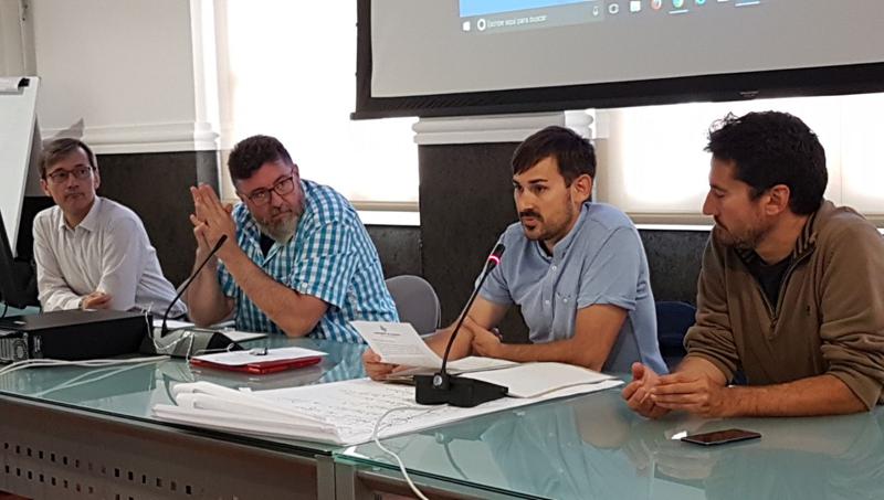 Rueda de prensa en el Ayuntamiento de Valencia para presentar el Proyecto 50/50 de ahorro energético en centros escolares municipales.