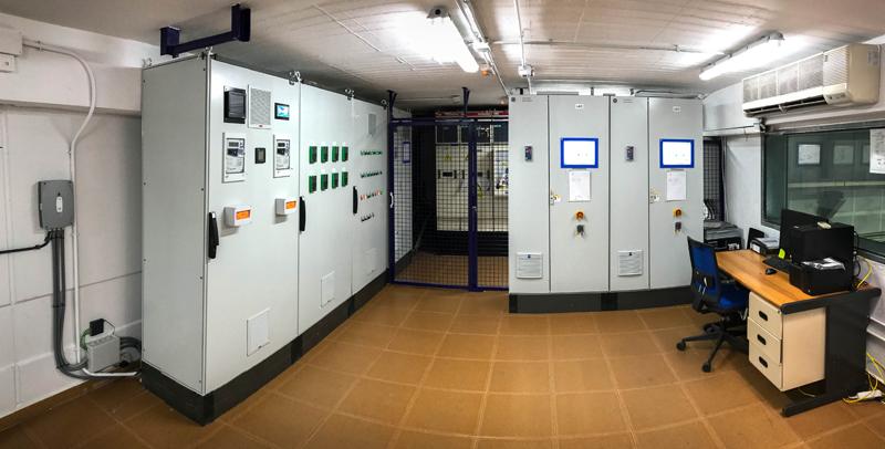 Sala de control de la planta de cogeneración.