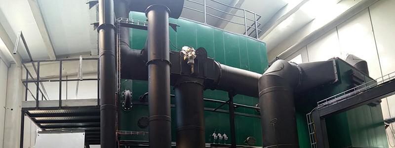 Caldera de biomasa instalada en la empresa papelera LC Paper 1881.