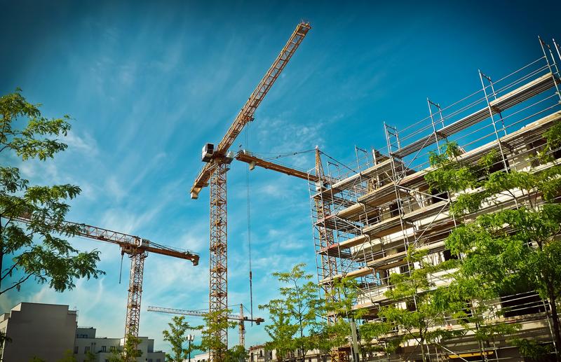 Edificios de vivienda en construcción.