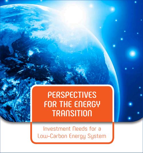 Portada del Informe de IRENA Perspectivas para la transición energética: necesidades de inversión para un sistema energético con bajas emisiones de carbono