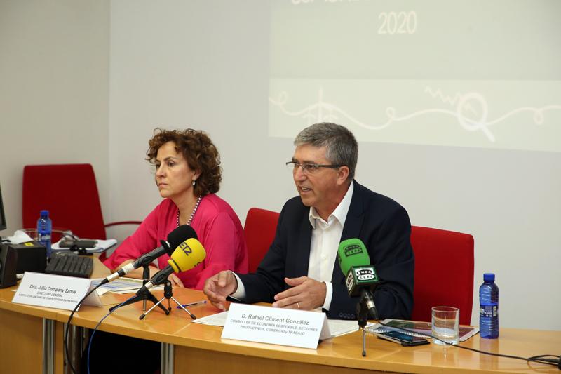 Rafa Climent y Júlia Company presentan el Plan de Energía Sostenible de la Comunidad Valenciana 2020.