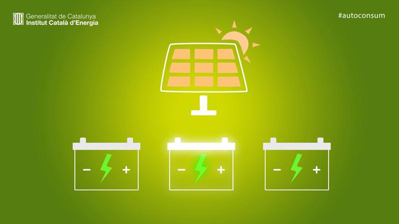 Pantallazo de una presentación del ICAEN en la que fomenta el autoconsumo fotovoltaico.