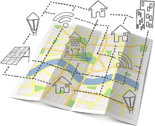 Plano ciudad. Gestión energética. Edificios públicos.