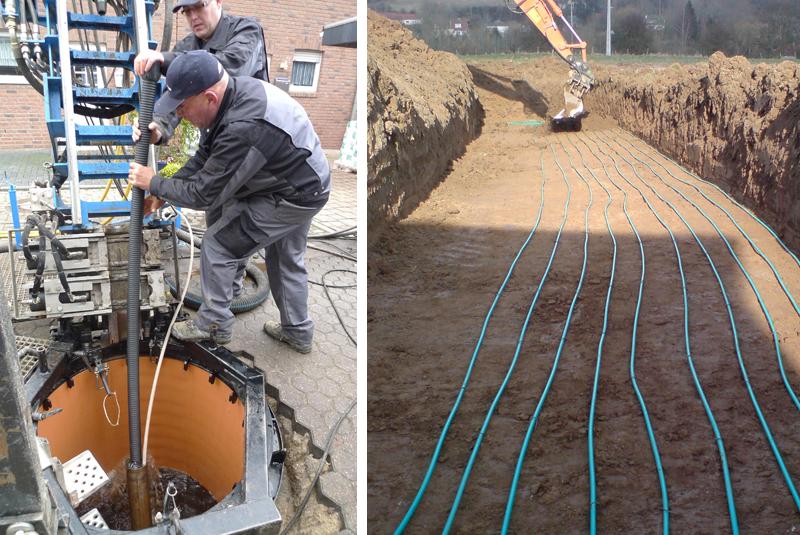Obras de instalaciones geotérmicas.