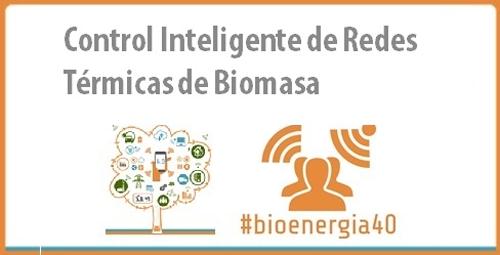 Anuncio y logo del Congreso Internacional de Bioenergía, que abordará el control inteligente de redes de calor de biomasa.