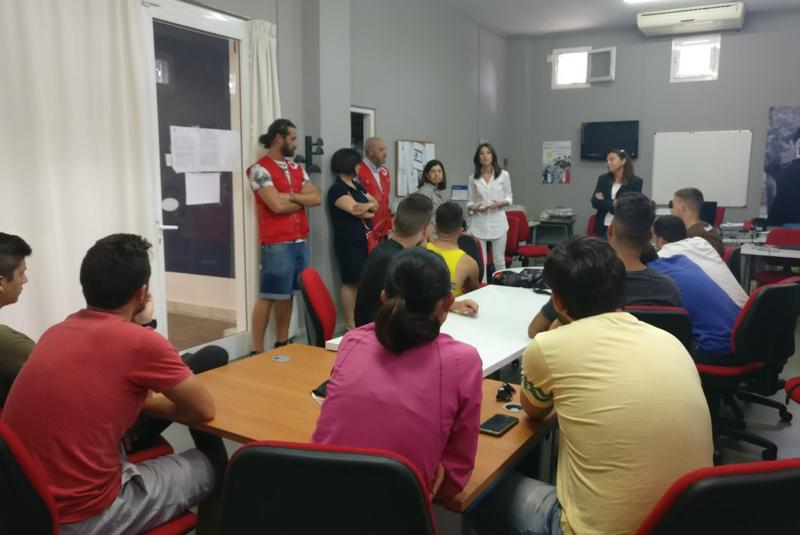Sala de formación de la Diputación de Almería.