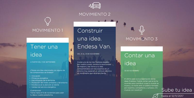 """Logo de """"Las Ideas se Mueven"""", concurso lanzado por Endesa entre estudiantes universitarios de Andalucía y Extremadura para fomentar la innovación energética."""