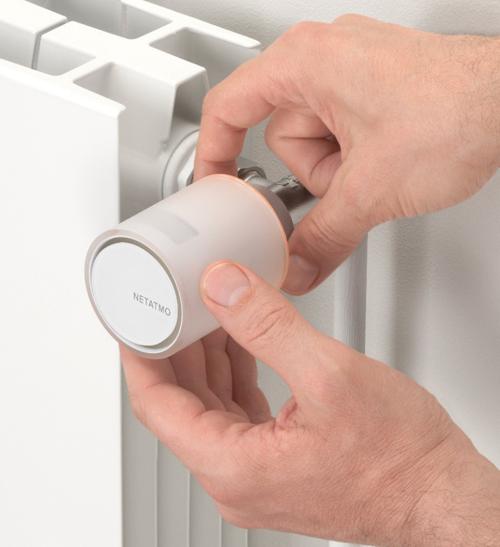 Válvula inteligente de radiador Netatmo.
