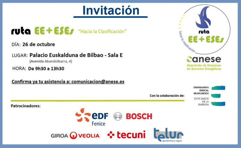 Invitación de Anese a la Ruta EE+ESEs.