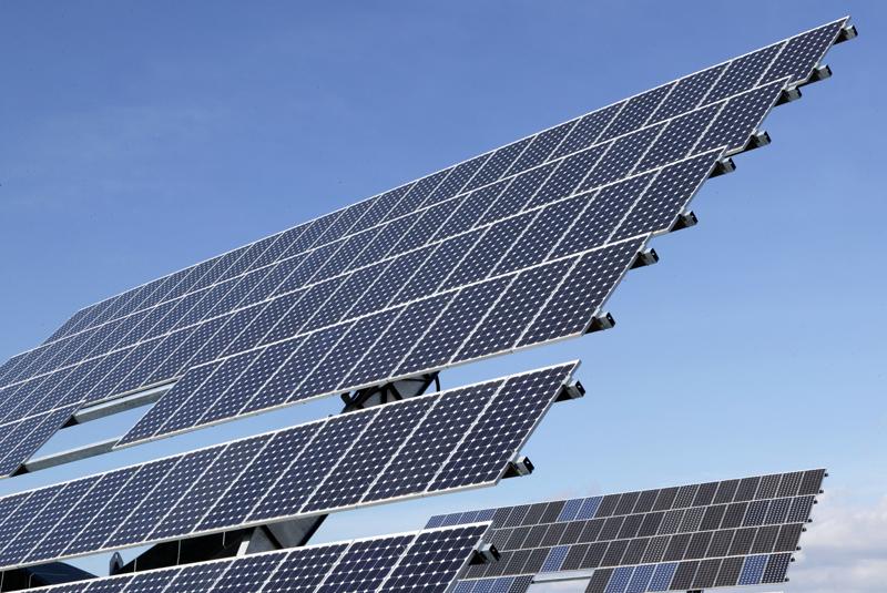 Módulos en un parque fotovoltaico.