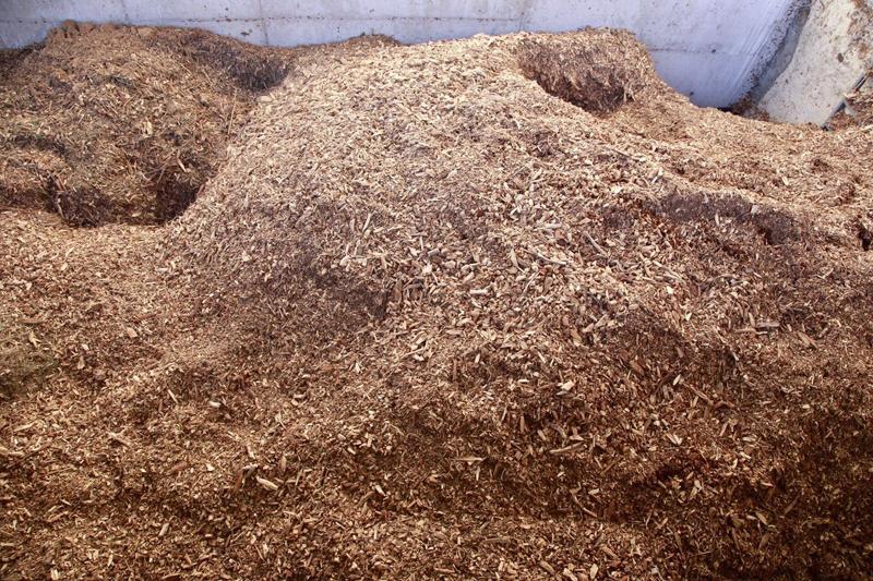 Silo de biomasa de la central térmica de Móstoles Ecoenergía.