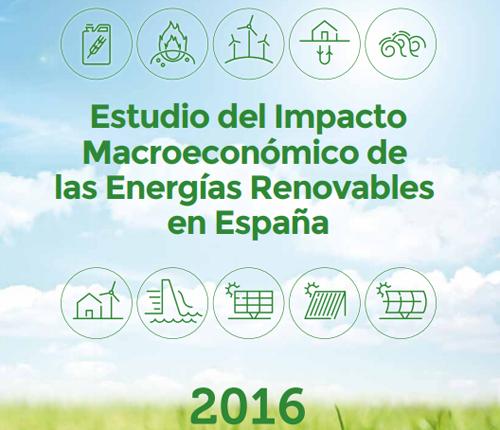 Estudio del Impacto Macroeconómico de las Energías Renovables en España 2016.