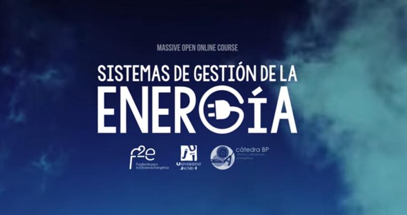 Anuncio del Curso online de Fundación F2e sobre Sistemas de Gestión de la Energía.