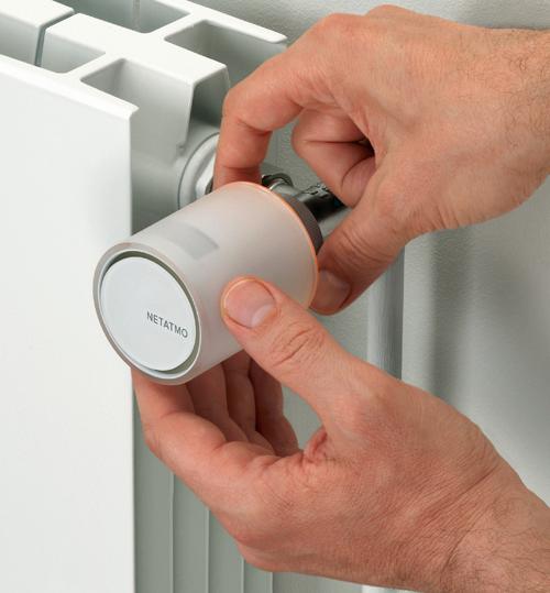 Válvulas inteligentes para radiadores de la marca Netatmo.