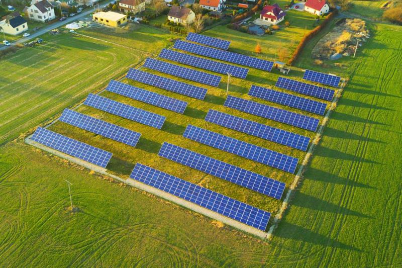 Parque solar.