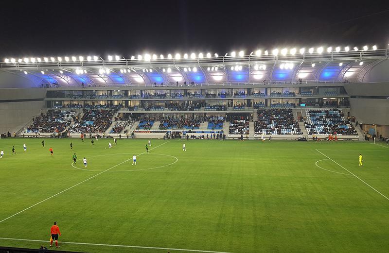 Estadio de fútbol Nándor Hidegkuti, en Budapest.
