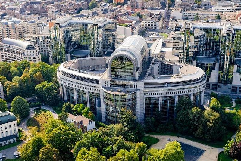 Parlamento Europeo en Bruselas.