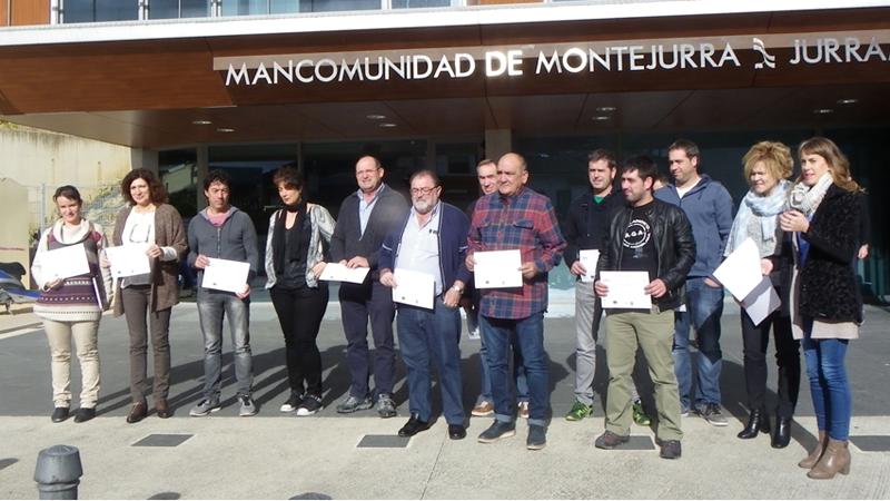 Representantes de ayuntamientos de Tierra Estella.