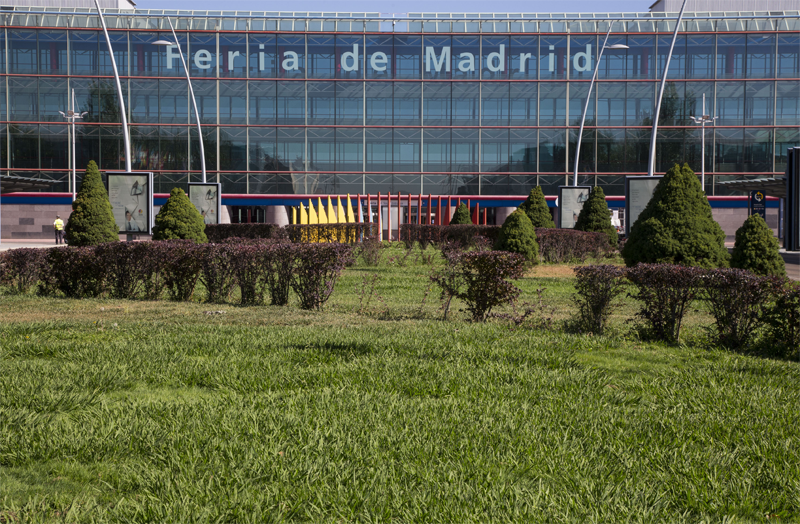 Vista exterior de Ifema, Feria de Madrid.