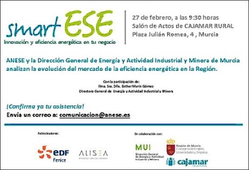 Invitación para asistir a SmartESE, de Anese, en Murcia.
